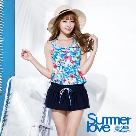 夏之戀SUMMERLOVE 海洋花園連身裙三件式泳衣(S16712)