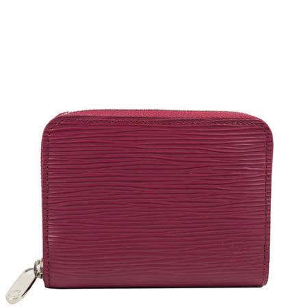 Louis Vuitton LV M60383 EPI 水波紋皮革信用卡拉鍊零錢包.紫紅_預購