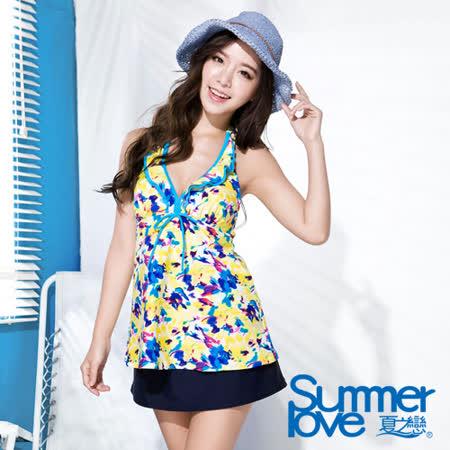 【SUMMERLOVE 夏之戀】 向陽風情長版三件式泳衣(S16710)