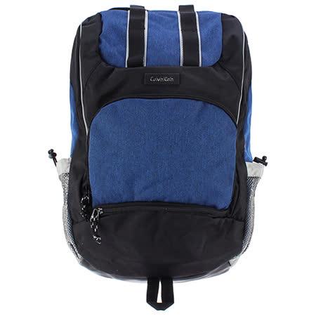 Calvin Klein 休閒款多功能尼龍後背包(藍色)