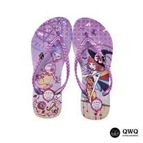 【QWQ】創意設計夾腳拖鞋-魔幻異境-紫(無鑽)