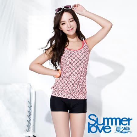 【SUMMERLOVE 夏之戀】復古典雅長版兩件式泳衣(S16714)