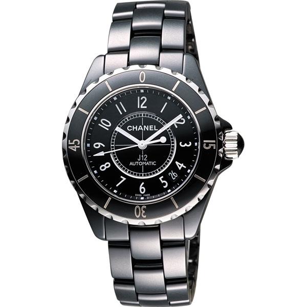 CHANEL 香奈兒 J12 經典陶瓷機械錶-黑/38mm H0685