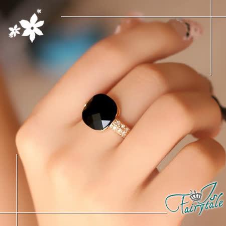【伊飾童話】方型黑瑪瑙*幾合切割戒指