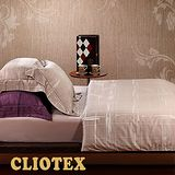 【柔得寢飾】CJB03尊品典藏 加大緞紋埃及棉四件式床包組(卡其)