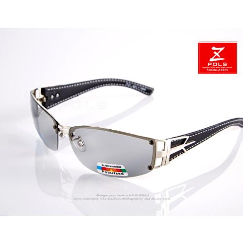 ~視鼎Z~POLS 偏光系列~金屬 皮革復古寬版款 寶麗來Polarized偏光 眼鏡,新