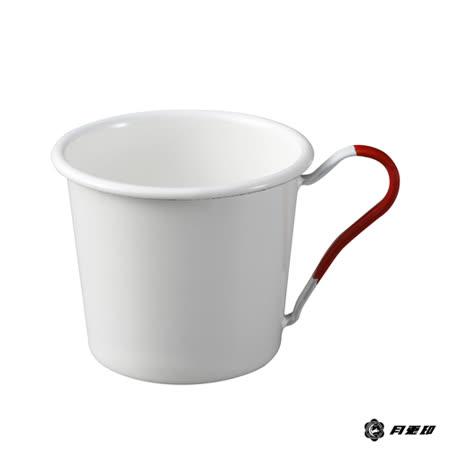 月兔印-琺瑯馬克杯(紅色手柄)