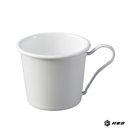 月兔印-琺瑯馬克杯(白色手柄)