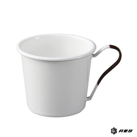 月兔印-琺瑯馬克杯(茶色手柄)