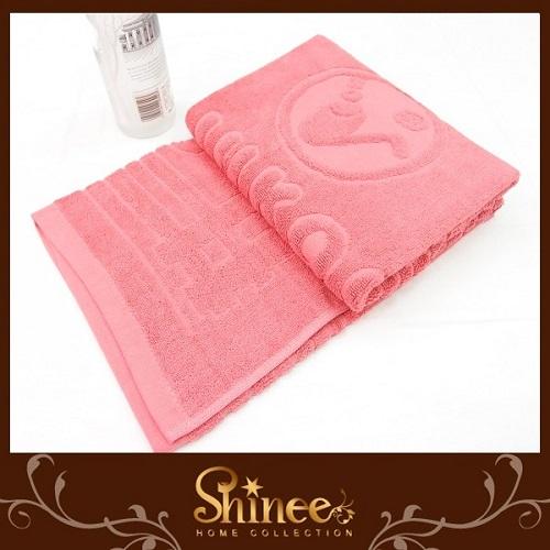 SHINEE 製~繽紛亮彩純棉枕巾~豆沙紅色~2入.