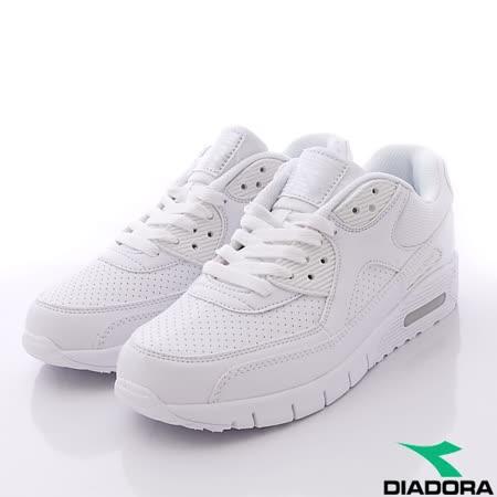 DIADORA義大利國寶鞋-透氣輕量慢跑鞋經典款-MC2879白(男段)-(25cm-29cm)