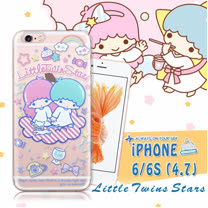 三麗鷗授權正版 雙子星仙子KiKiLaLa iPhone 6/6s 4.7吋 i6s 透明軟式保護套 手機殼(休閒)