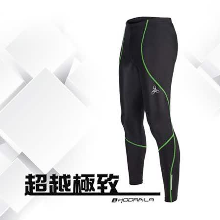 (男女) HODARLA 光速緊身長褲-緊身褲 台灣製 慢跑 路跑 內搭褲 黑螢光綠