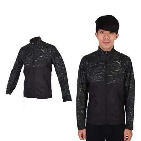 (男) PUMA NIGHTCAT 立領風衣外套- 防風 慢跑 路跑 休閒 運動 黑銀