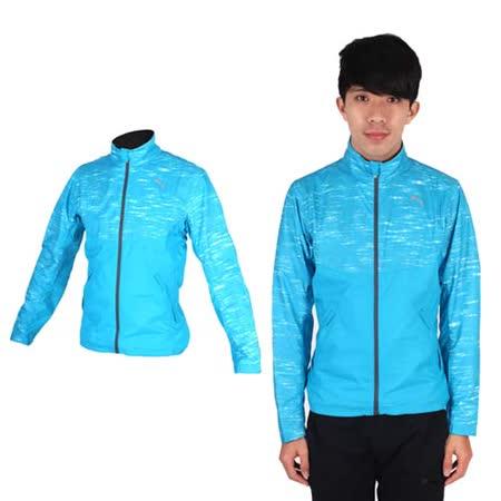 (男) PUMA NIGHTCAT 立領風衣外套- 防風 慢跑 路跑 運動 水藍銀