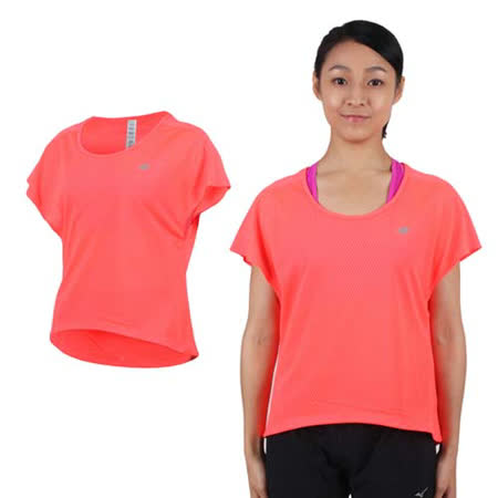 (女) NEWBALANCE 短袖T恤-紐巴倫 上衣 慢跑 路跑 休閒 瑜珈 螢光橘