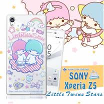 三麗鷗授權正版 雙子星仙子KiKiLaLa Sony Xperia Z5 5.2吋 透明軟式保護套 手機殼(休閒)