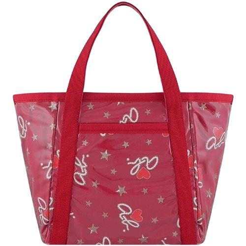 agnes b. ab.heart圖樣手提包-紅色