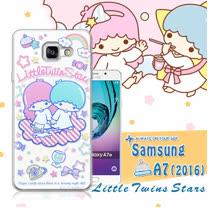 三麗鷗授權正版 雙子星仙子KiKiLaLa Samsung Galaxy A7 (2016) / A710X 透明軟式保護套 手機殼(休閒)