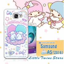 三麗鷗授權正版 雙子星仙子KiKiLaLa Samsung Galaxy A5(2016) 透明軟式保護套 手機殼(休閒)