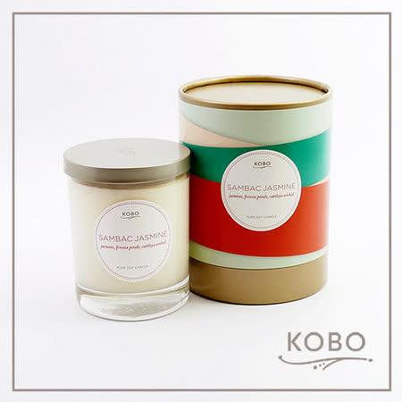 【KOBO】美國大豆精油蠟燭 - 茉莉蘭香(330g/可燃燒80hr)