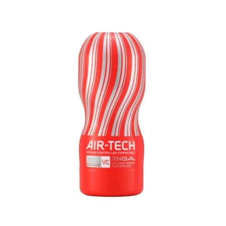 日本TENGA AIR-TECH 重複使用 控制器兼容版 空氣飛機杯 VC標準 紅