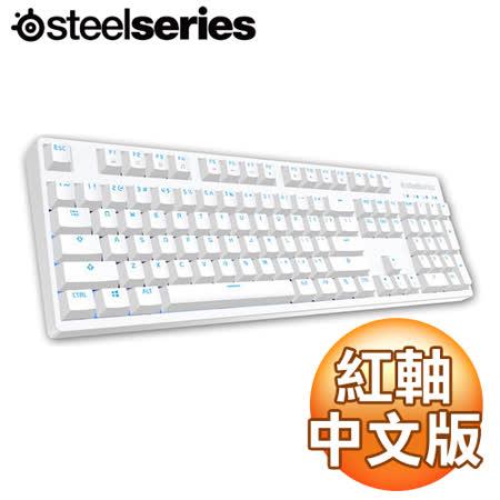SteelSeries APEX M260 紅軸 中文 藍光 白色機械式鍵盤