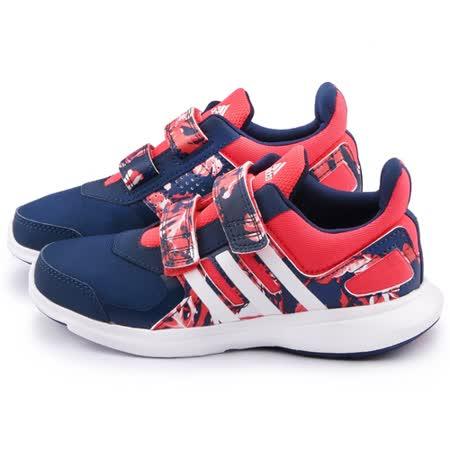 Adidas 大童 時尚迷彩輕量運動鞋AQ4847-桃藍