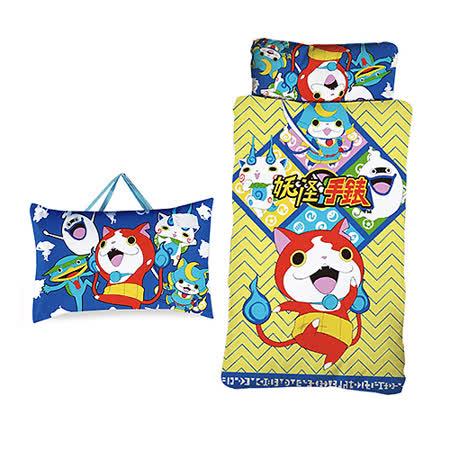 【妖怪手錶】吉胖喵二用幼教兒童睡袋-武士慶典篇