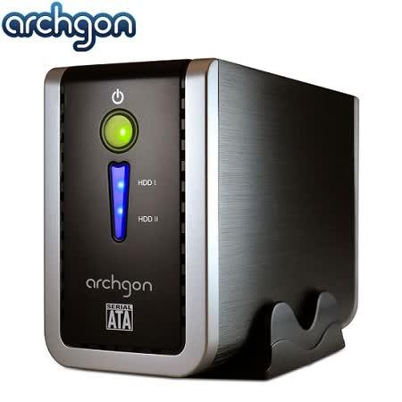 archgon亞齊慷 2.5/3.5吋USB3.0 2bay磁碟陣列外接盒-MH-3622RD-U3P