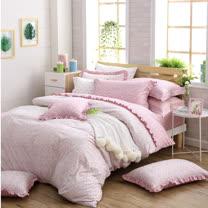 OLIVIA 《Ashley》單人床包荷葉枕套兩件組 鄉村公主房