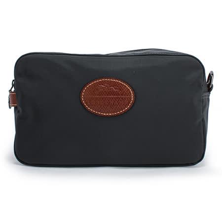 Longchamp LE PLIAGE系列尼龍方形手拿包-鐵灰色