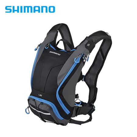 SHIMANO UNZEN 登山車背包 無水袋 6L 黑/閃電藍