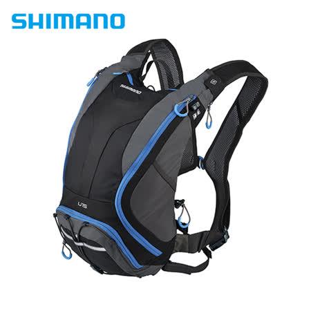 SHIMANO UNZEN 登山車背包 無水袋 15L 黑/閃電藍