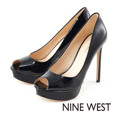 NINE WEST-都會女伶魚口高跟鞋--簡約黑