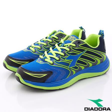 DIADORA義大利國寶鞋-艷炫動能乳膠鞋墊止滑慢跑鞋款-MR2996藍(男段)(25cm-29cm)