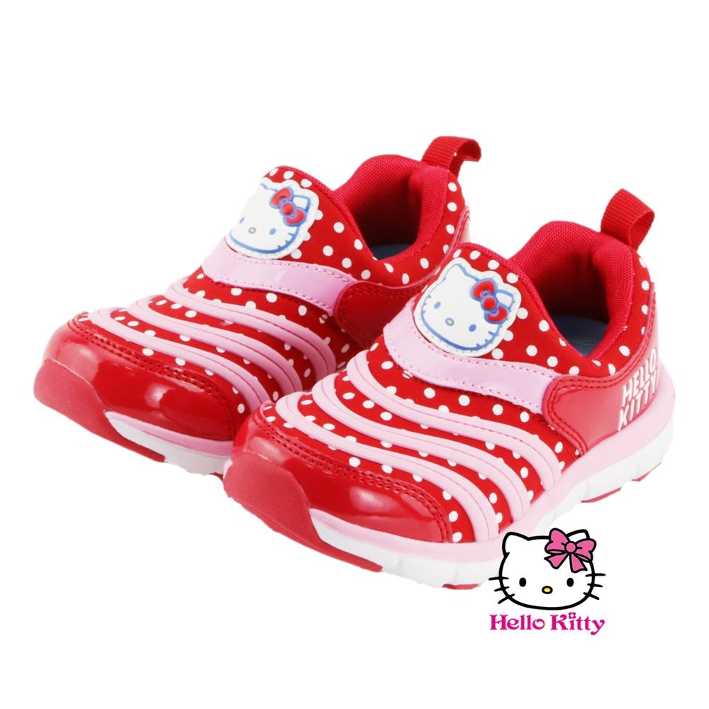 ~MODAbobo~Hello Kitty 中大童段 KITTY毛毛蟲 鞋~紅 T6S8~