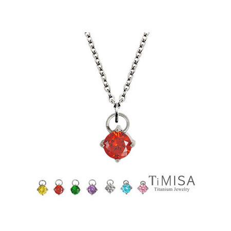 【TiMISA】純淨光芒(7色) 純鈦(極細鎖骨)項鍊(B)