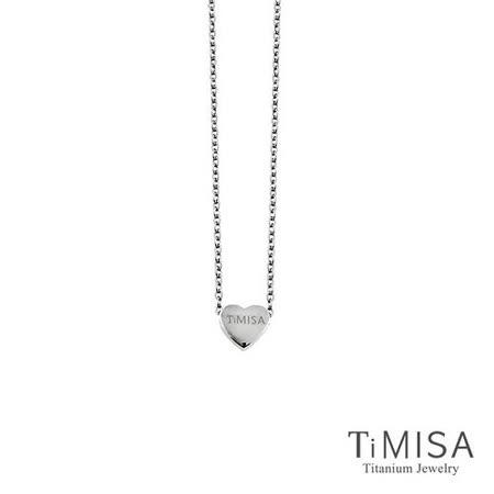 【TiMISA】小愛心 純鈦(極細鎖骨)項鍊(B)