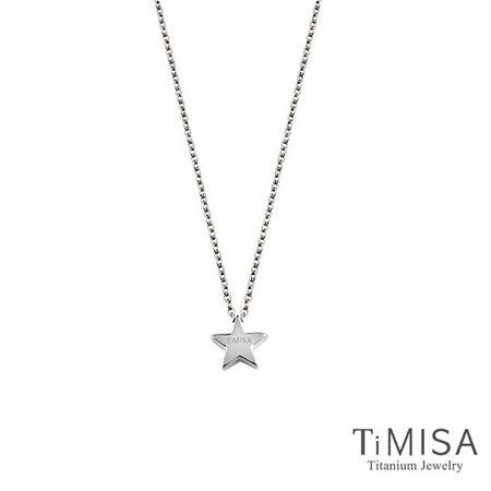 【TiMISA】小星星 純鈦(極細鎖骨)項鍊(B)