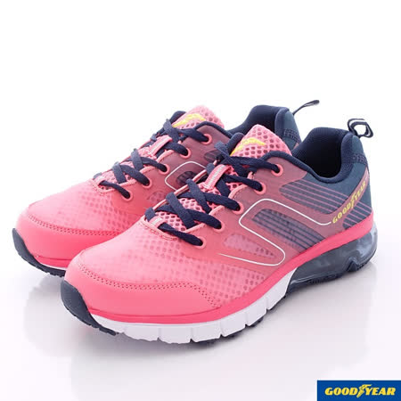 GOODYEAR戶外鞋-粉彩透氣氣墊款-WR52332桃藍-女款(23cm-25.5cm)