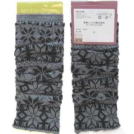 【波克貓哈日網】日本製襪套◇雪花圖案◇《小腿抓皺襪套》