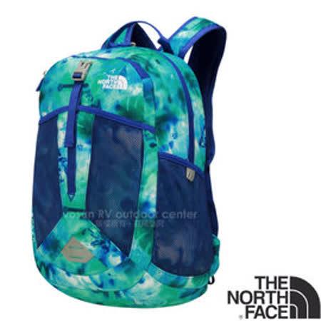 【美國 The North Face】RECON SQUASH 童款 童趣印花風格雙肩後背包17L (YKK拉鍊_日用運動休閒書包)/大容量主袋/CTK3 榮譽藍塗鴉