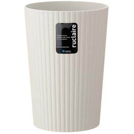 日本品牌【ASVEL】極簡風垃圾桶-6L-H-6218-W