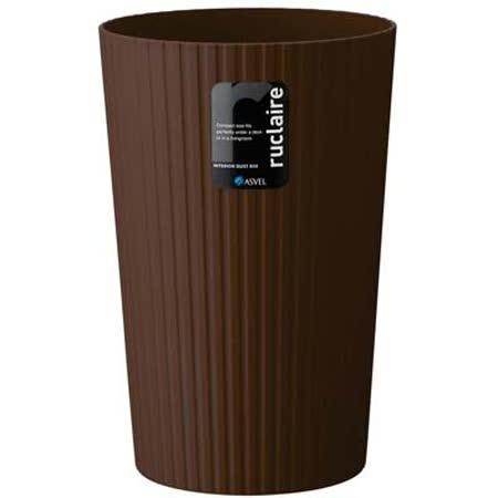 日本品牌【ASVEL】極簡風垃圾桶-6L-H-6218-BR