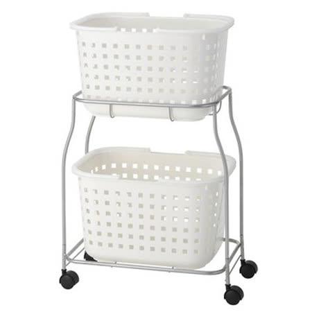 日本品牌【ASVEL】便利收納 雙層洗衣籃-Grady系列-7409