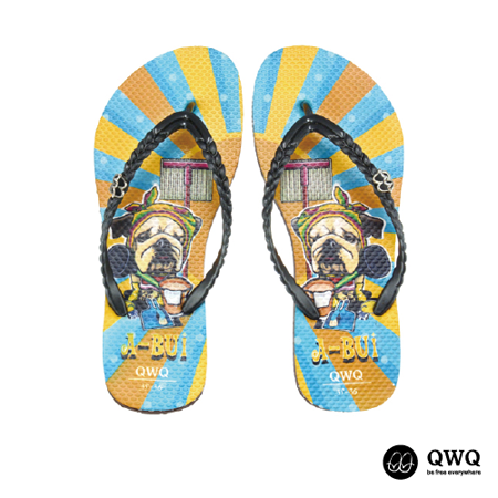 【QWQ】創意設計夾腳拖鞋-A Bui-咖啡(無鑽)