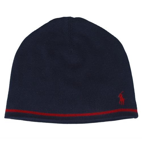 POLO 戰馬針織帽^(海軍藍紅馬^)