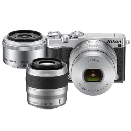 Nikon 1 J5 10-100mm 單鏡組(公司貨)-加送64G卡+專用電池*3+KENKO保護鏡+防潮箱+戶外腳架+大吹球清潔組+拭鏡筆+專用相機包+遙控器+讀卡機+保護貼+HDMI