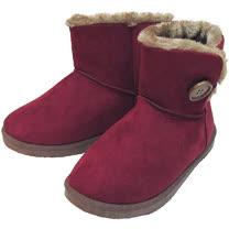 【波克貓哈日網】超舒適短靴◇毛毛雪靴◇《亮麗桃紅色》